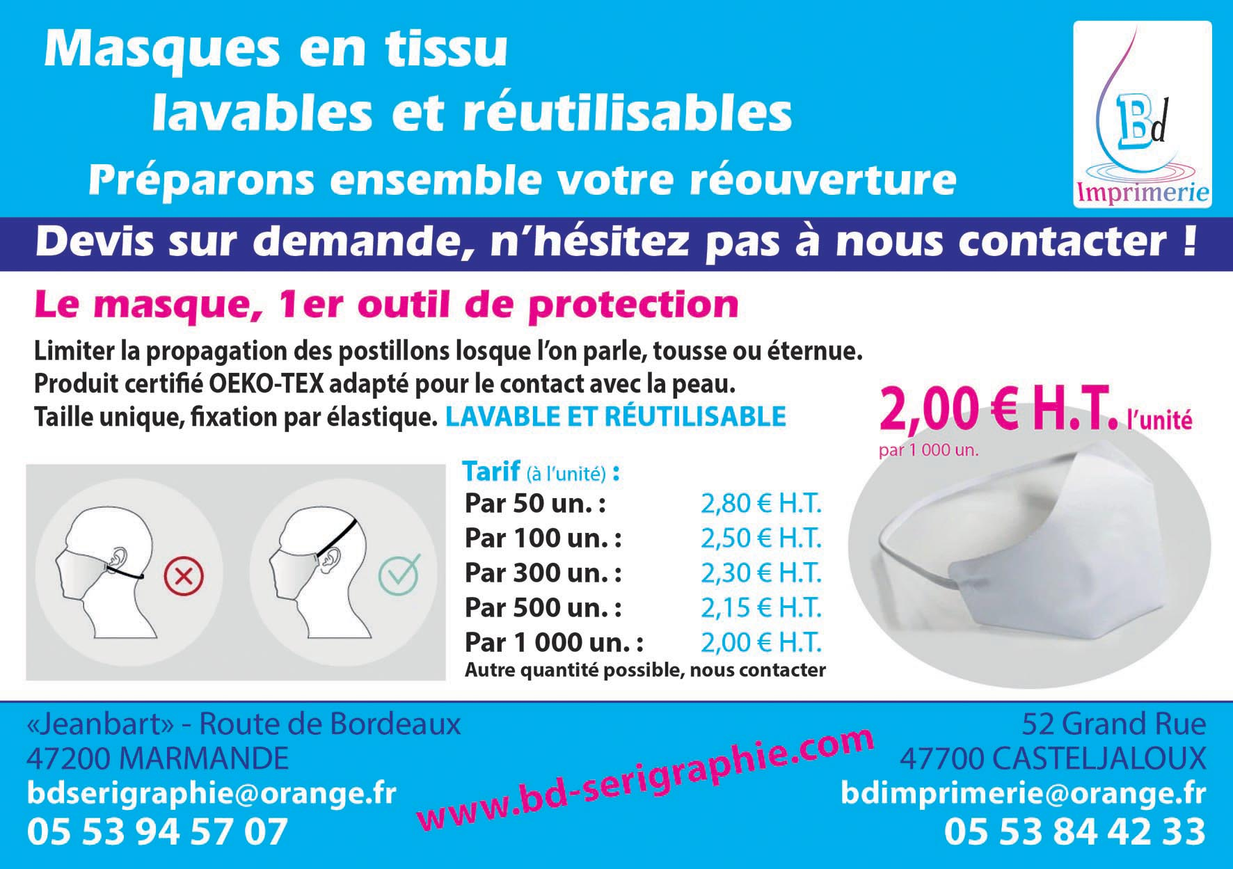 Protection masques reutilisables COVID
